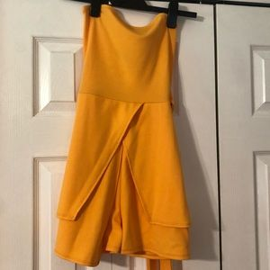 NWT Misguided Bandeau Tie Front Skort Playsuit